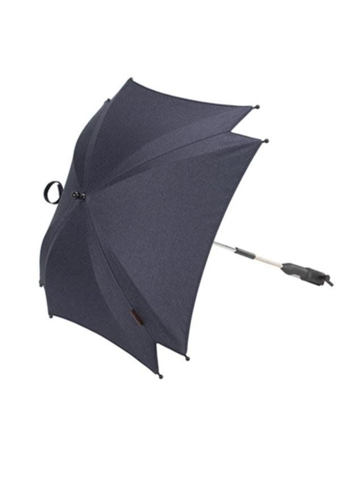 CLOSEOUT!! Silver Cross Wave Parasol - Midnight Blue