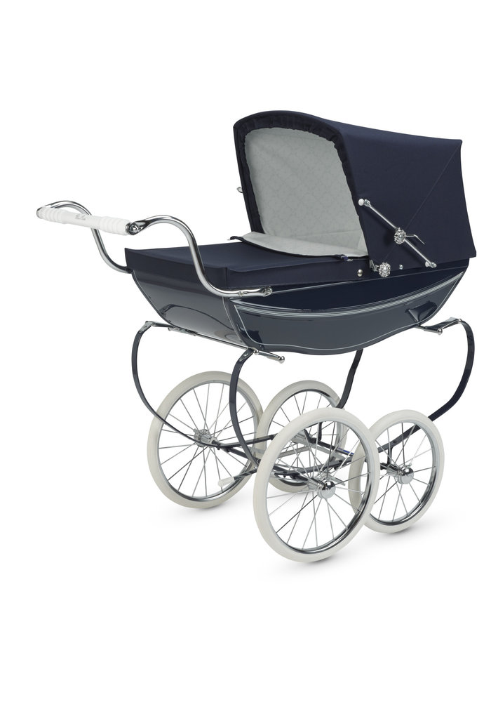 Silver Cross Doll Carriage Oberon- Navy