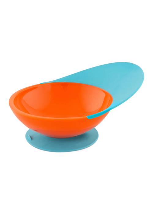 Boon Boon Catch Bowl With Spill Catcher In Orange - Blue