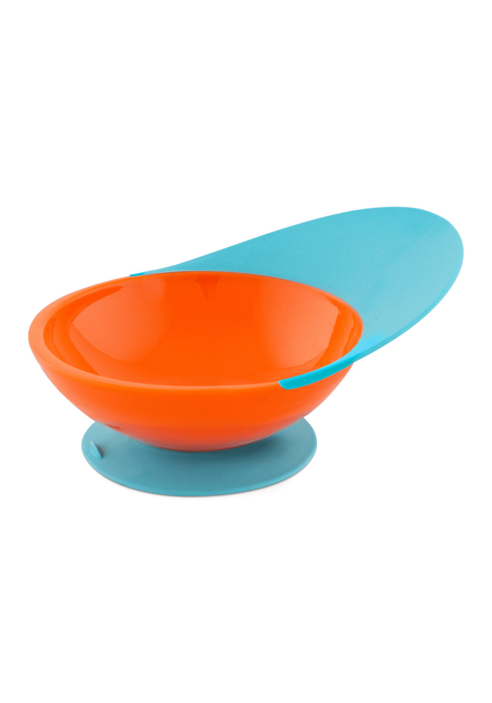 Boon Catch Bowl With Spill Catcher In Orange/Blue