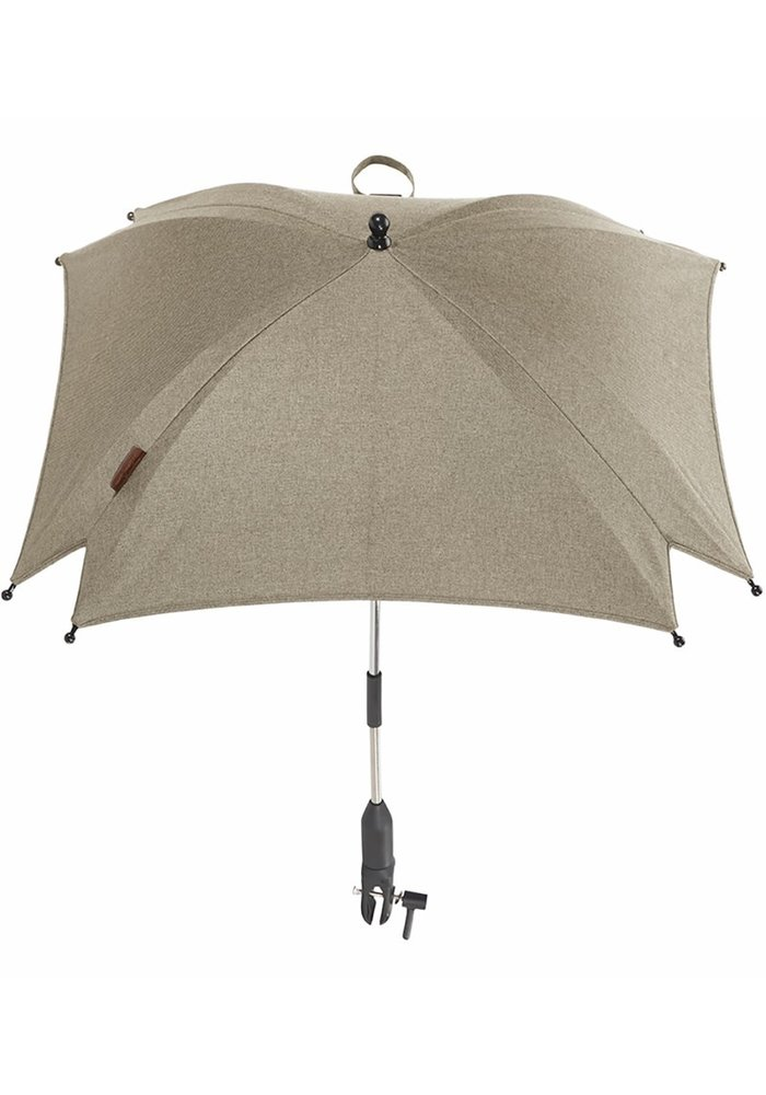CLOSEOUT!! Silver Cross Wave Parasol - Linen