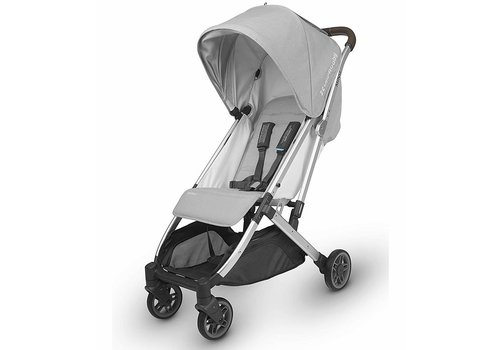UppaBaby Uppababy Minu Stroller In Devin (Light Grey Melange/Silver/Chestnut Leather)