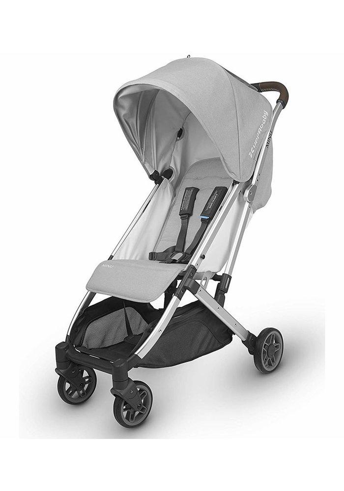 Uppababy Minu Stroller In Devin (Light Grey Melange/Silver/Chestnut Leather)