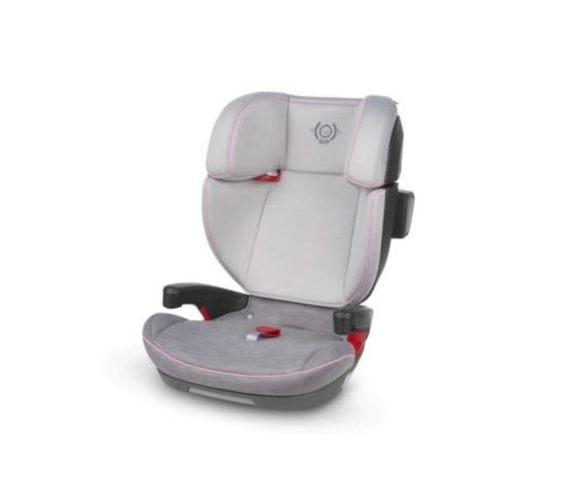 2020 Uppa Baby Alta Booster Car Seat In Sasha (Grey Melange With Pink Accent)