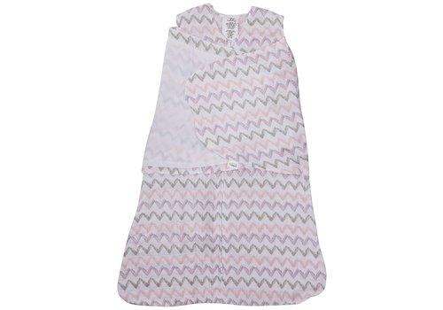Halo HALO SleepSack Swaddle Cotton Muslin Pink Chevron Size, Small