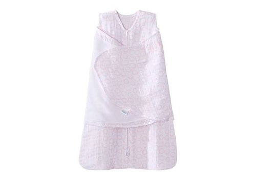 Halo HALO SleepSack Swaddle Small, 100% cotton muslin, Circles Pink