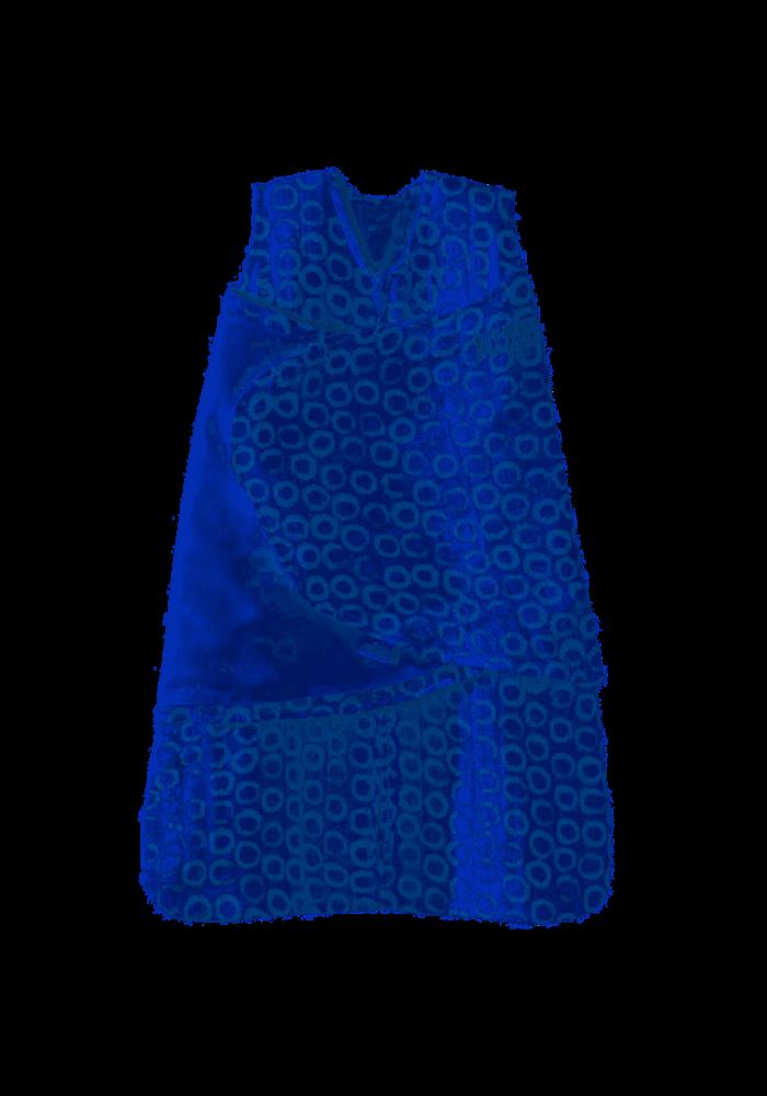HALO SleepSack Swaddle Small, 100% cotton muslin, Circles Turquoise