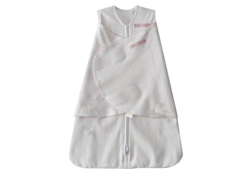 Halo HALO SleepSack Swaddle 100% Cotton Pink Pin Dot Small