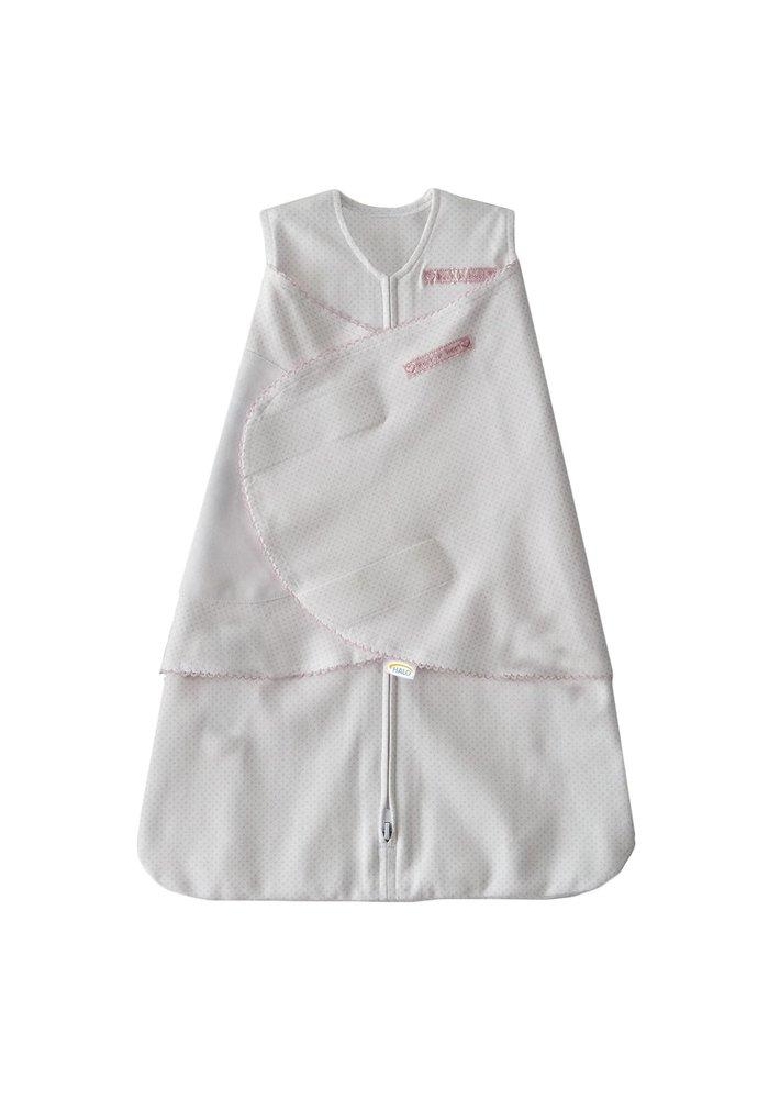 HALO SleepSack Swaddle 100% Cotton Pink Pin Dot Small