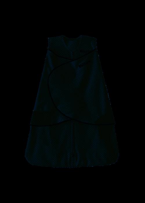 Halo HALO SleepSack Swaddle 100% Cotton Navy Pin Dot Small