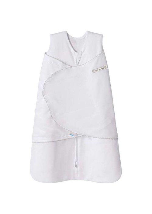 Halo HALO SleepSack Swaddle White with trim, SM