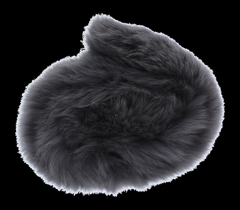 Baby Frr Fur For Doona In Dark Grey
