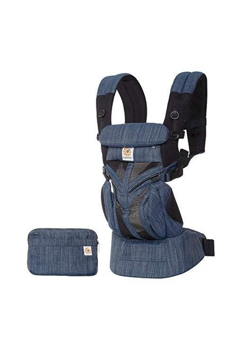 ERGObaby Ergo Baby Omni 360 Mesh Baby Carrier All-In- Indigo Weave