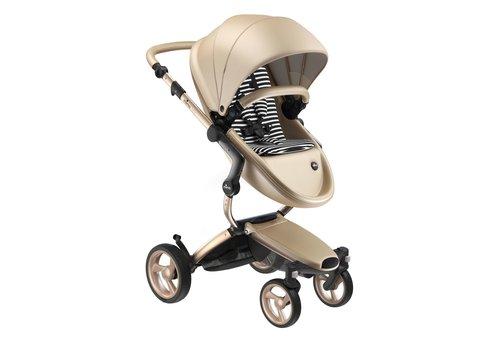 Mima Kids Mima Kids Xari stroller Gold Chassis Gold Seat Black & White Starter Pack