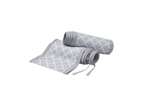 Breathable Baby Breathable Baby Breathable Classic White Clover With Gray Mist Trim