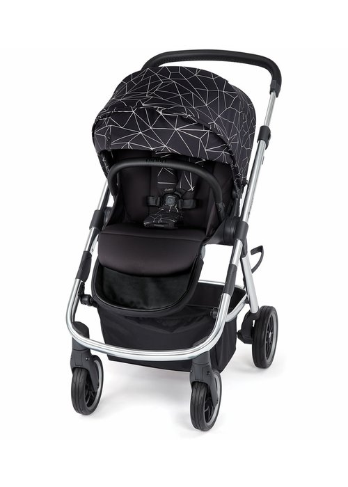 Diono Diono Excurze Luxe Stroller In Black Platinum