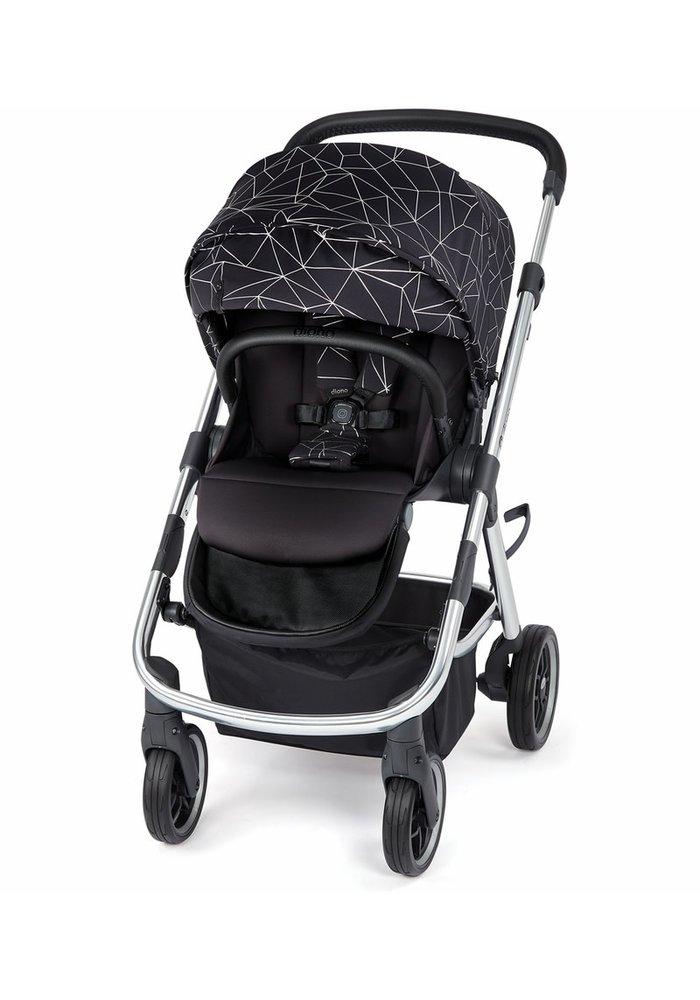 Diono Excurze Luxe Stroller In Black Platinum