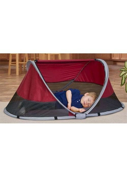 KidCo Kidco Peapod Indoor and Outdoor Travel Bed In Cranberry
