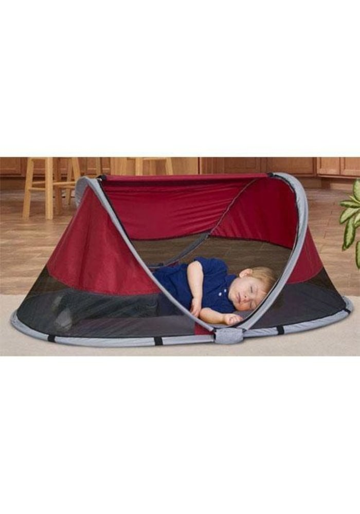 Kidco Peapod Indoor and Outdoor Travel Bed In Cranberry