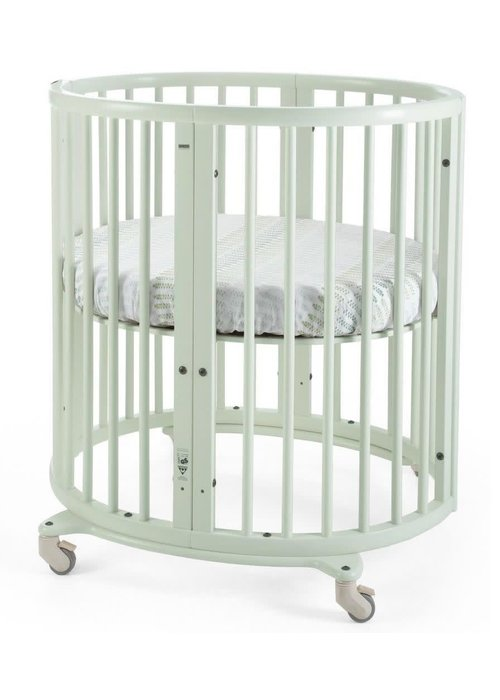 Stokke Stokke Sleepi Mini Bundle In Mint Green With Mattress Includes Drape Rod