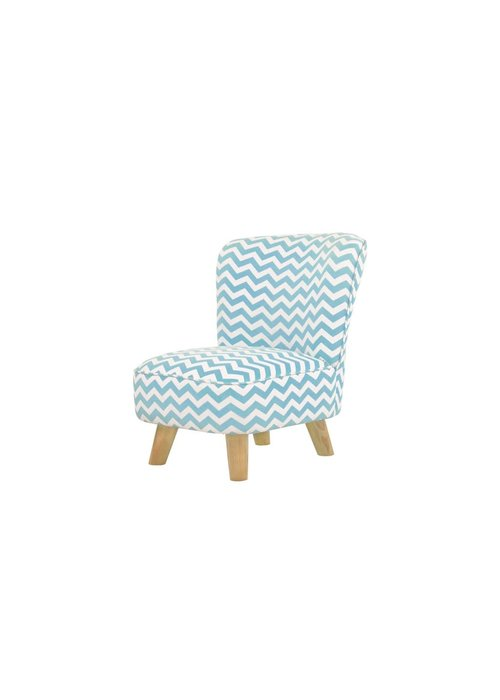 Baby Letto Baby Letto Pop Mini Chair In Chevron Blue For Toddlers