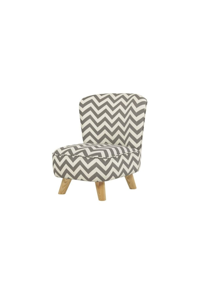 Baby Letto Pop Mini Chair In Chevron Grey For Toddlers