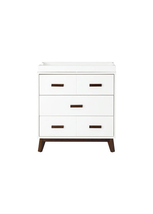 Baby Letto Baby Letto Scoot Dresser With Changer Tray In White With Walnut