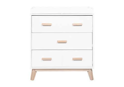 Baby Letto Baby Letto Scoot Dresser With Changer Tray In White-Washed Natural Finish