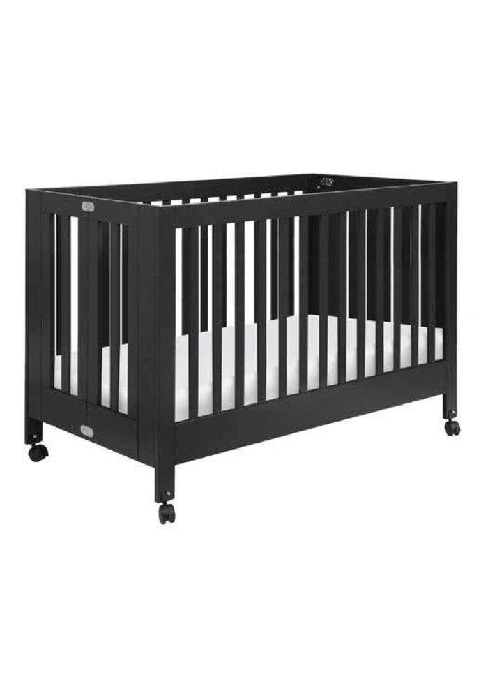 Baby Letto Maki Full Folding Crib In Black