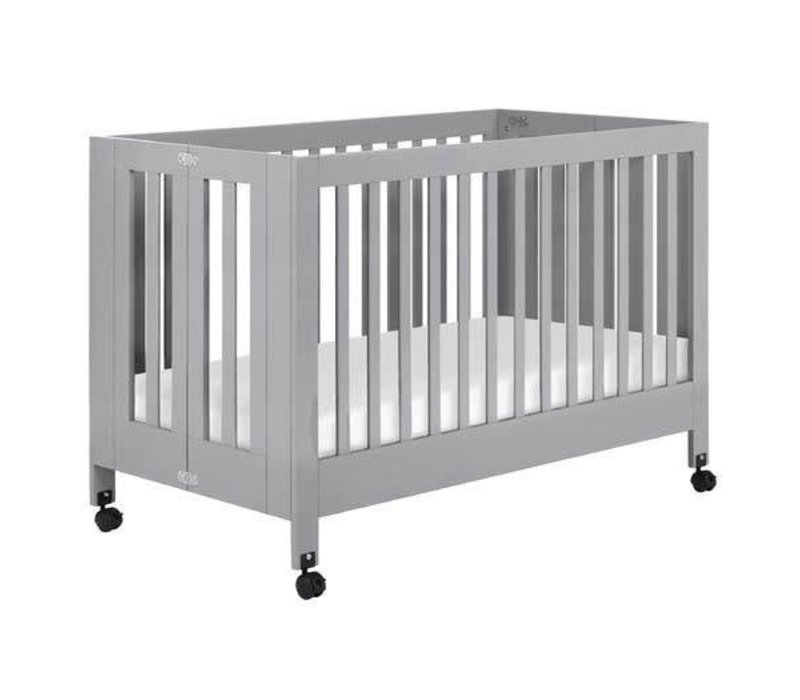 Baby Letto Maki Full Folding Crib In Gray