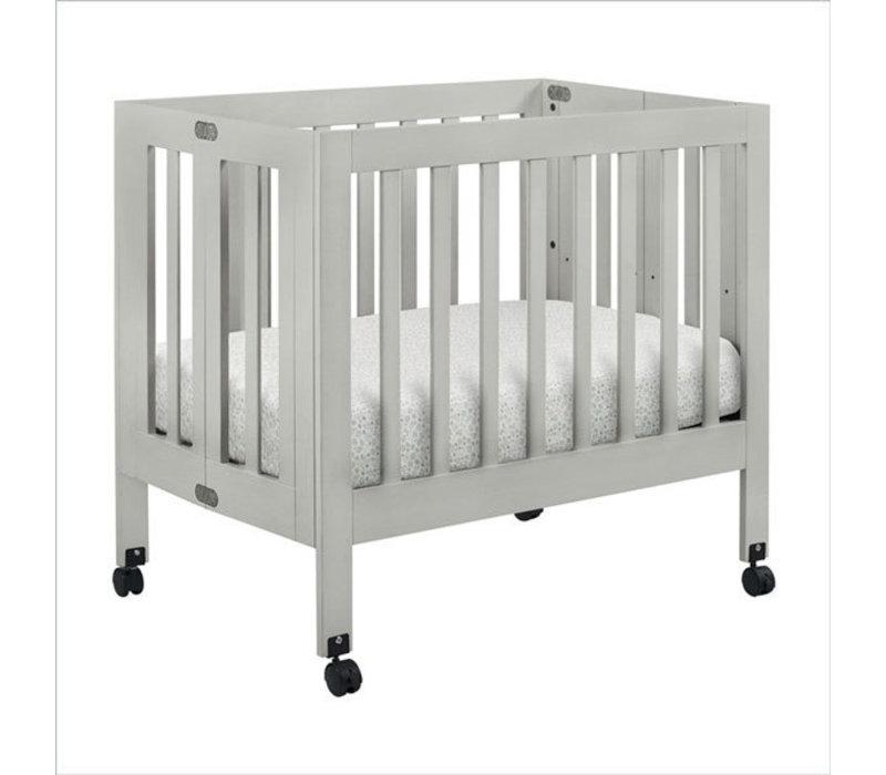 Baby Letto Origami Mini Crib In Grey (Pad Included)