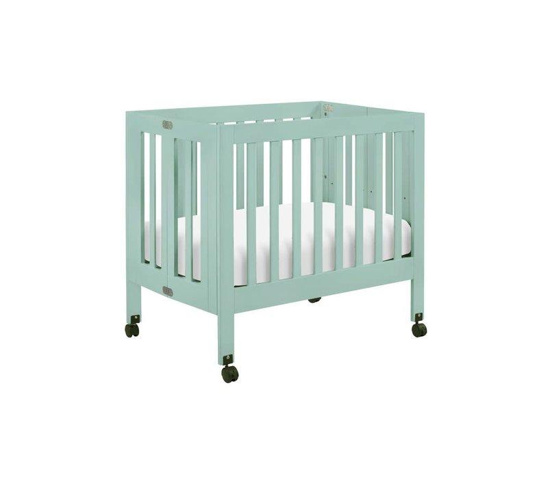 Baby Letto Origami Mini Crib In Lagoon (Pad Included)