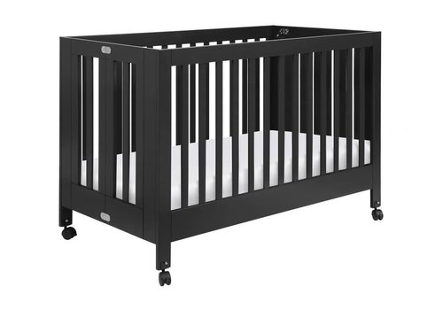 Baby Letto Baby Letto Origami Mini Crib In Black (Pad Included)