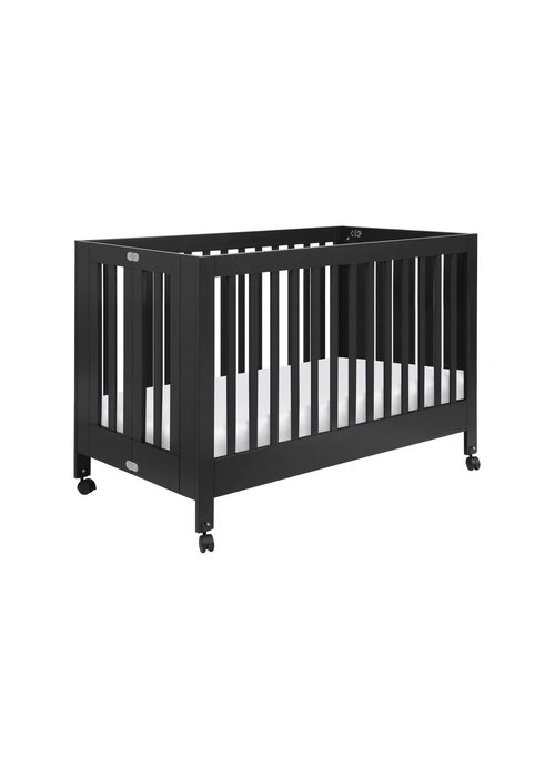 Baby Letto Baby Letto Origami Mini Crib In Black (Pad Included)
