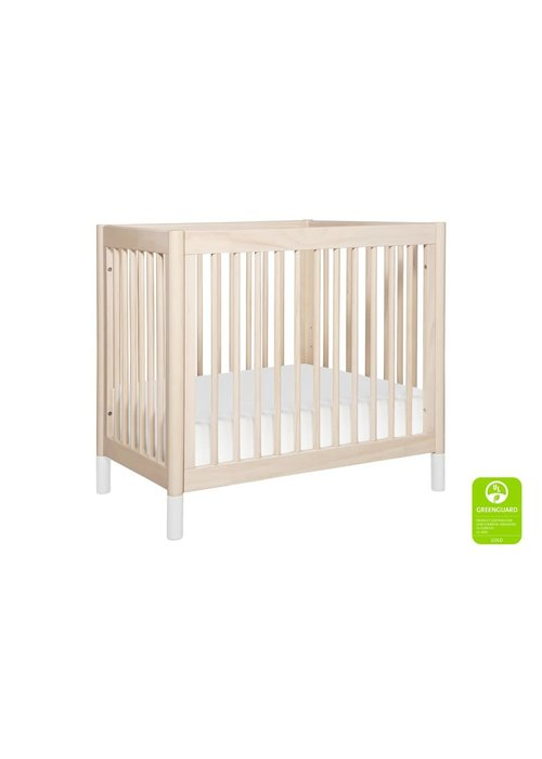 Baby Letto Baby Letto Gelato 2 In 1 Mini Crib In Washed Natural- With White Feet (Pad Included)