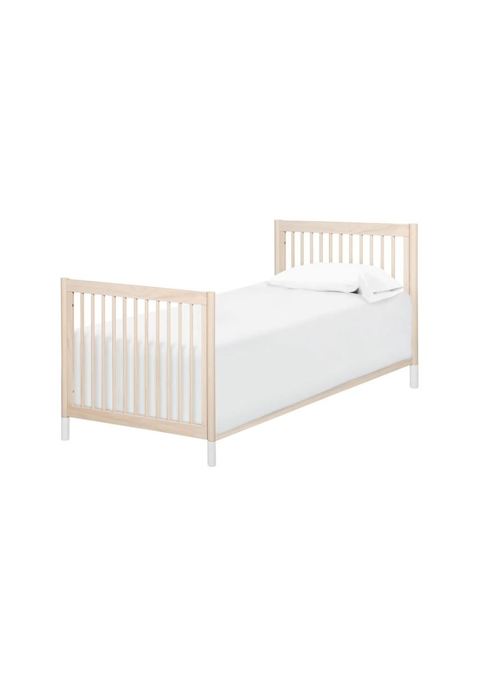 Baby Letto Gelato 2 In 1 Mini Crib In Washed Natural- With White Feet (Pad Included)