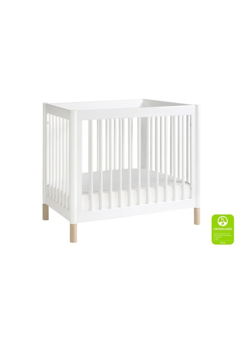 Baby Letto Baby Letto Gelato 2 In 1 Mini Crib In White Finish - With Washed Natural Feet (Pad Included)