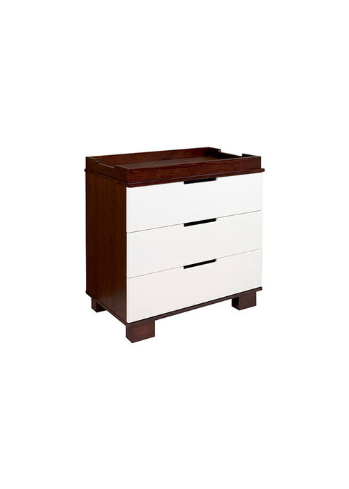 Baby Letto Baby Letto Modo 3 Drawer Changer In Espresso With White (No Pad Included)