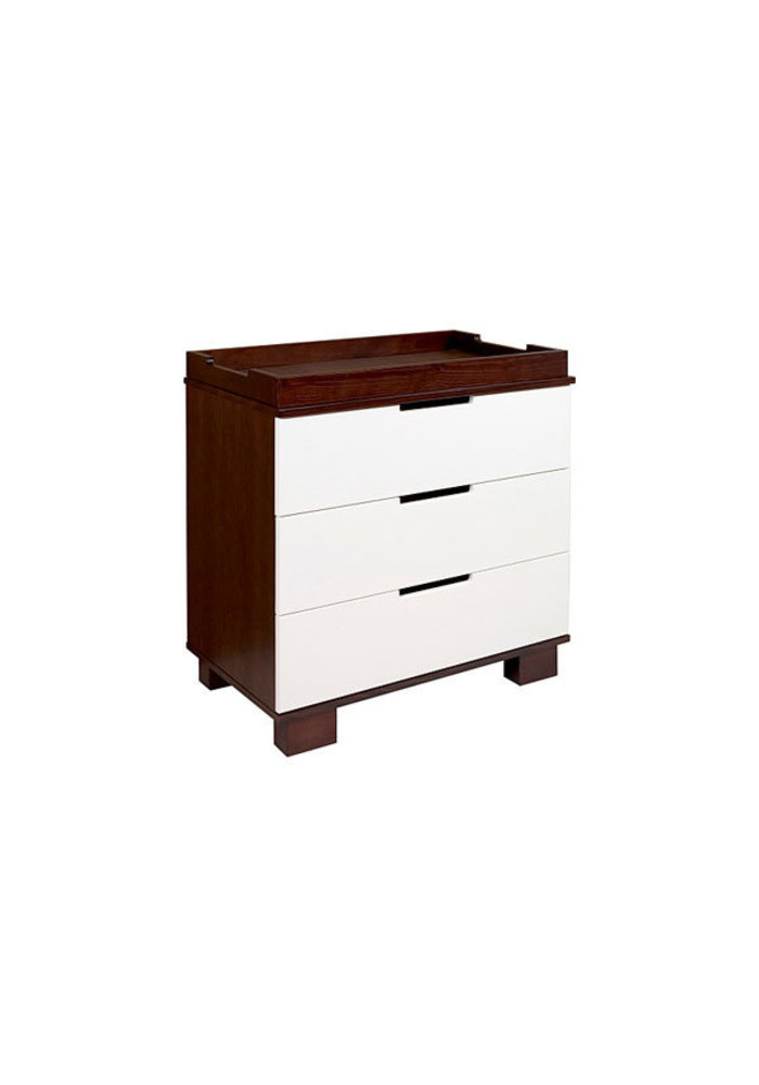 Baby Letto Modo 3 Drawer Changer In Espresso With White (No Pad Included)