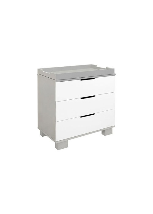 Baby Letto Baby Letto Modo 3 Drawer Changer In Gray With White (No Pad Included)