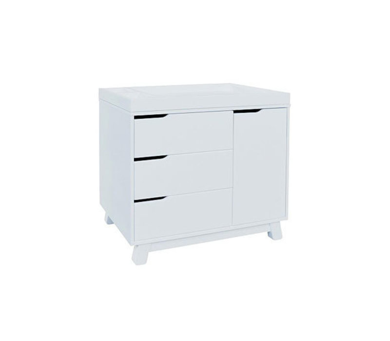 Baby Letto Hudson Dresser With Changer Tray In White With White