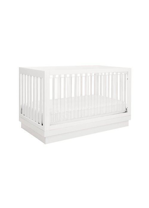 Baby Letto Baby Letto Harlow 3 In 1 Convertible Crib With Acryclic- All White