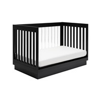 Baby Letto Harlow 3 In 1 Convertible Crib With Acryclic- Black