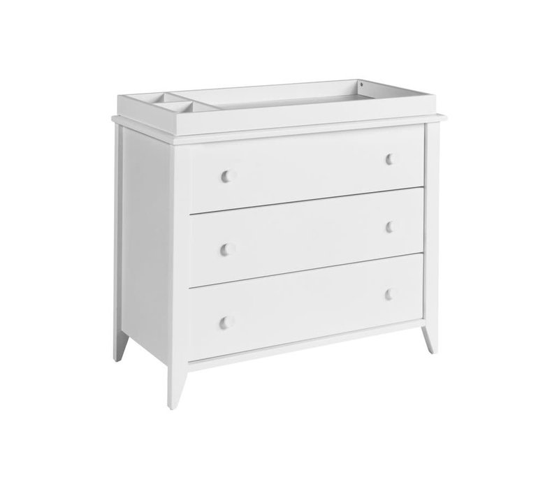 Baby Letto Sprout 3 Drawer Changer In White  (No Pad Included)