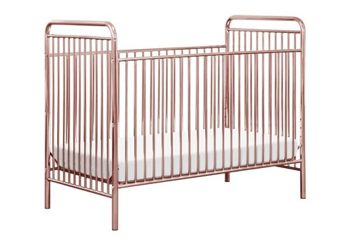 Baby Letto Baby Letto Jubilee 3-in-1 Convertible Metal Crib in Pink Chrome