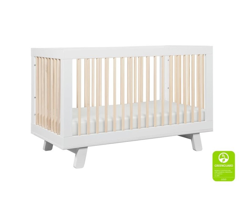 Baby Letto Hudson 3 In 1 Convertible Crib With Toddler Rail In White - Washed Natural