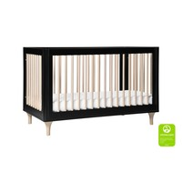 Baby Letto Lolly 3 In 1 Convertible Crib With Toddler Rail - Black Washed Natural