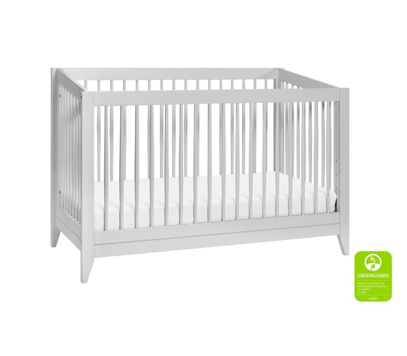 Baby Letto Sprout 4 In 1 Convertible Crib With Toddler Rail -Light Grey
