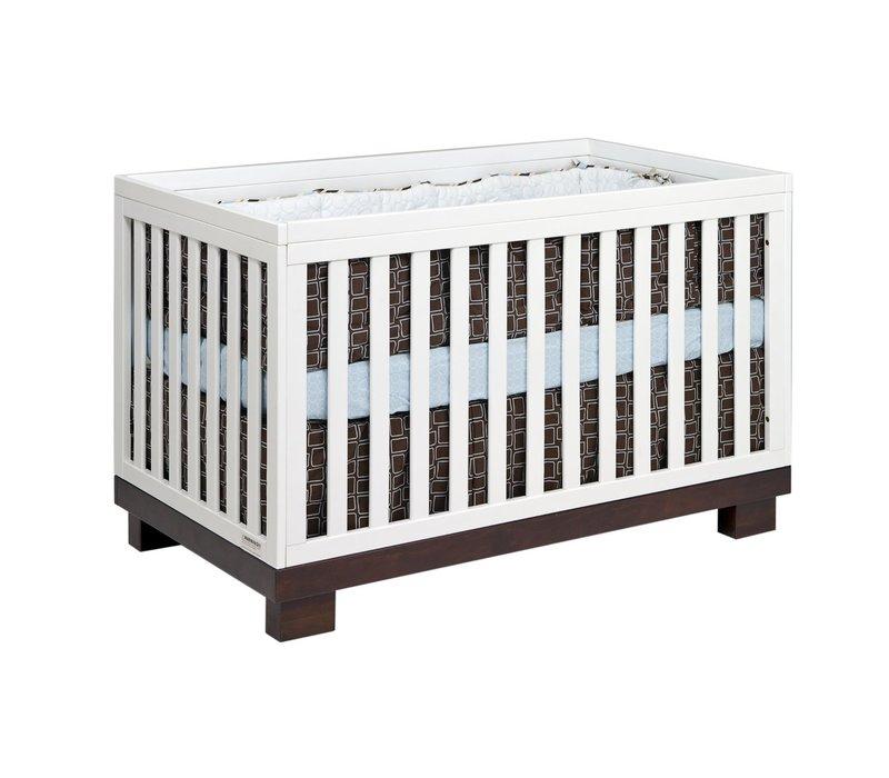 Baby Letto Modo 3 In 1 Convertible Crib With Toddler Rail In Espresso-White