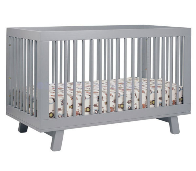 Baby Letto Hudson 3 In 1 Convertible Crib With Toddler Rail In Grey